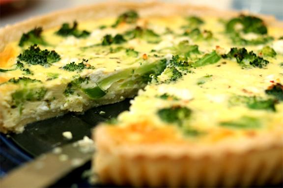 Tarta de brócoli y jamon cocido